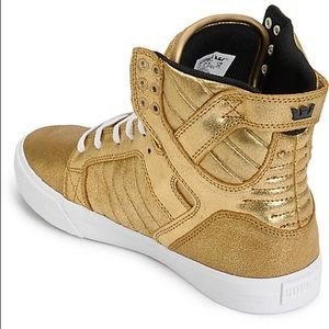 👟Supra shoes gold👑